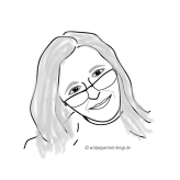 profilbild heidrun lutz, wildpeppermint-design.de, skizze, illustration, portrait