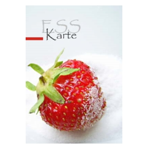 Speiskarte, Erdbeere, Desserts