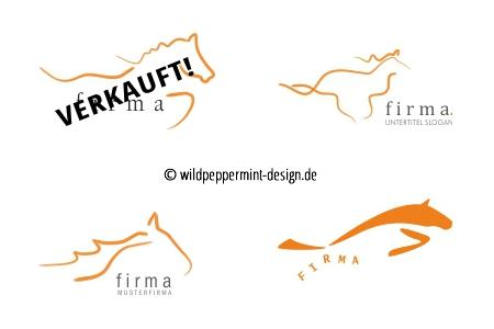 Logo, freie Logoentwürfe, Logos, Pferd, wildpeppermint-design.de