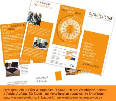 Flyer, kleinauflage, recycling, nachhaltig, günstig