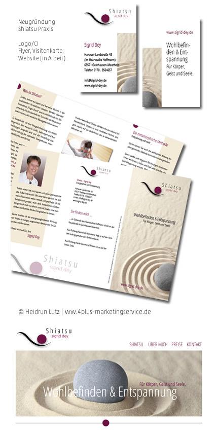 Corporate Design, CI, Shiatsu, Sigrid Dey, Flyer, Visitenkarte, Logo, Website, Gutschein