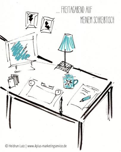 Büro, Schreibtisch, Skizee, 4plus-marketingservice