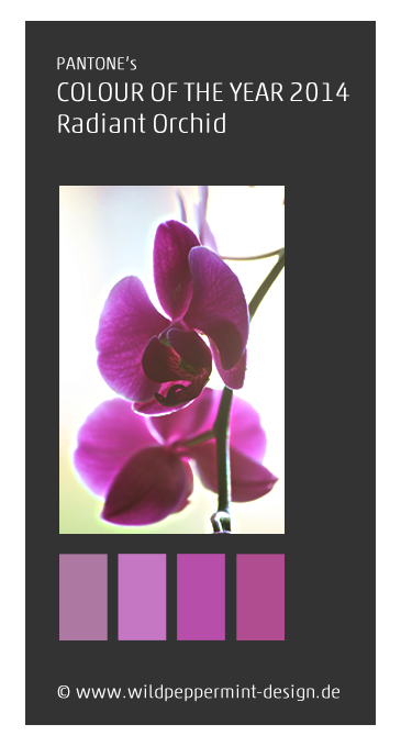 Farbe des jahres 2014, pantone, radiant orchid