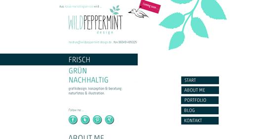 Website Wildpeppermint-Design