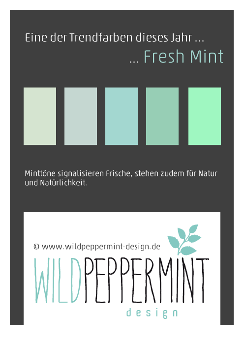 Trendfarbe, mint, 2014