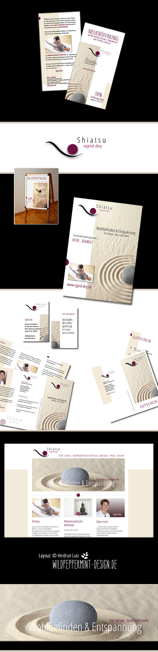 Corporate Design, Shiatsu, by wildpeppermint-design
