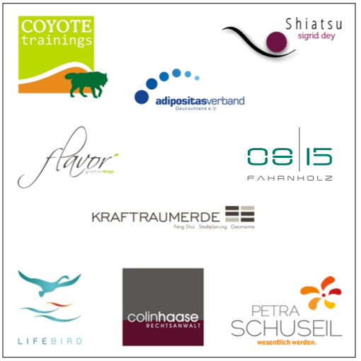Referenzbeispiele, Arbeitsbeispeile Logos div. Branchen, wildpeppermint-design.de