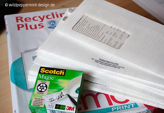 Recycling im Büro, umweltfreundliches büro, grünes büro, recycling-papier
