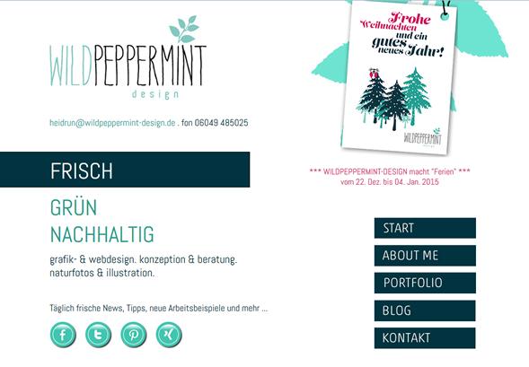 WILDPEPPERMINT-DESIGN wünschte frohe Weihnachten / © wildpeppermint-design.de