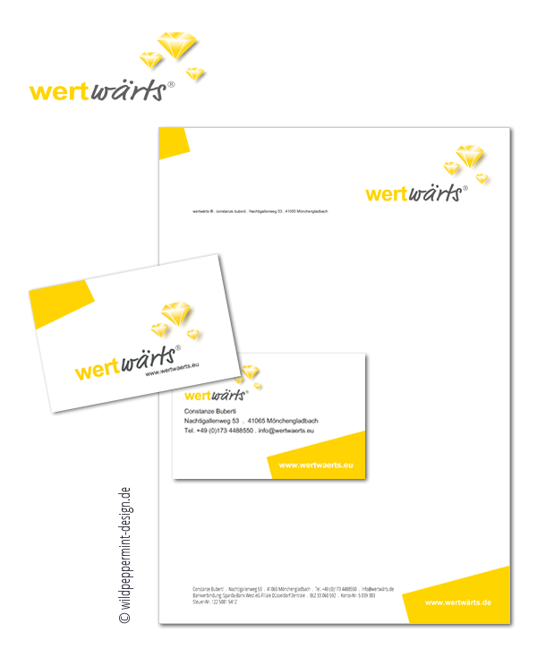 Referenz, Corporate Design, Farbe Gelb, © wildpeppermint-design.de
