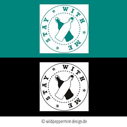 logo stay with me, nachhaltigkeit, logeogestaltung, pro-bono-porjekt, wildpeppermint-design.de