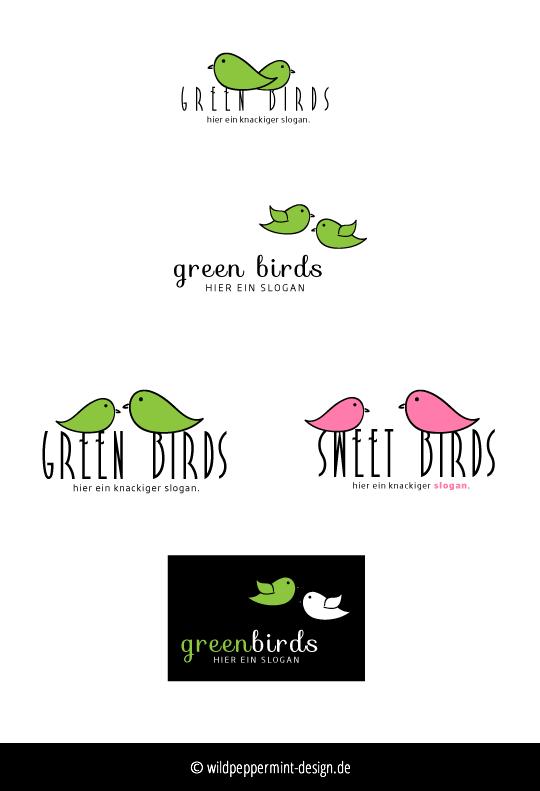 Freie-Logoentwürfe-Birds - © wildpeppermint-design.de