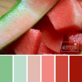 Farbpalette Melone, wildpeppermint-design.de
