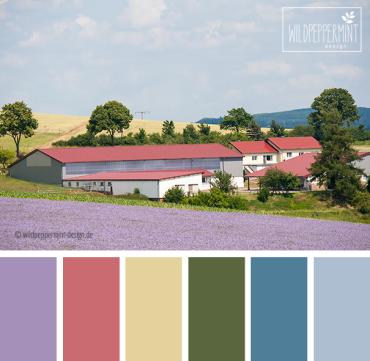 Farbpalette Sommerfarben, wildpeppermint-design.de
