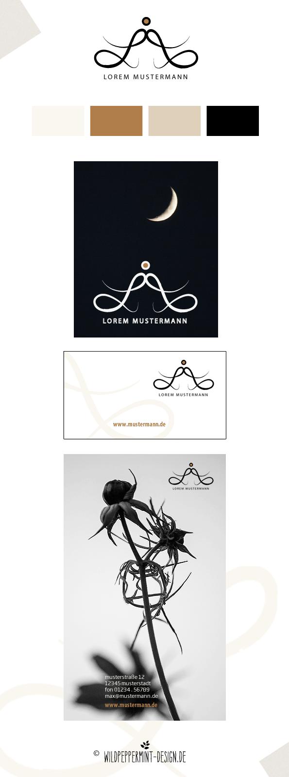 Freie-Logoidee, Logo, Logo-Entwurf, Corporate Design, dezent, edel, modern, leicht // © wildpeppermint-design.de