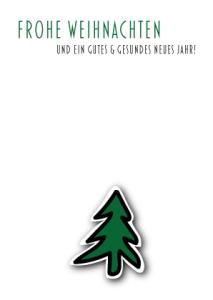 Umweltfeundliche Weihnachtskarten wildpeppermint-design.de