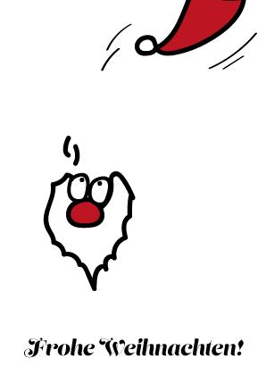 Umweltfeundliche Weihnachtskarte Weihnachtsmann, © wildpeppermint-design.de
