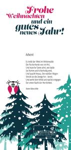Weihnachtskarte wildpeppermint-design.de 2014