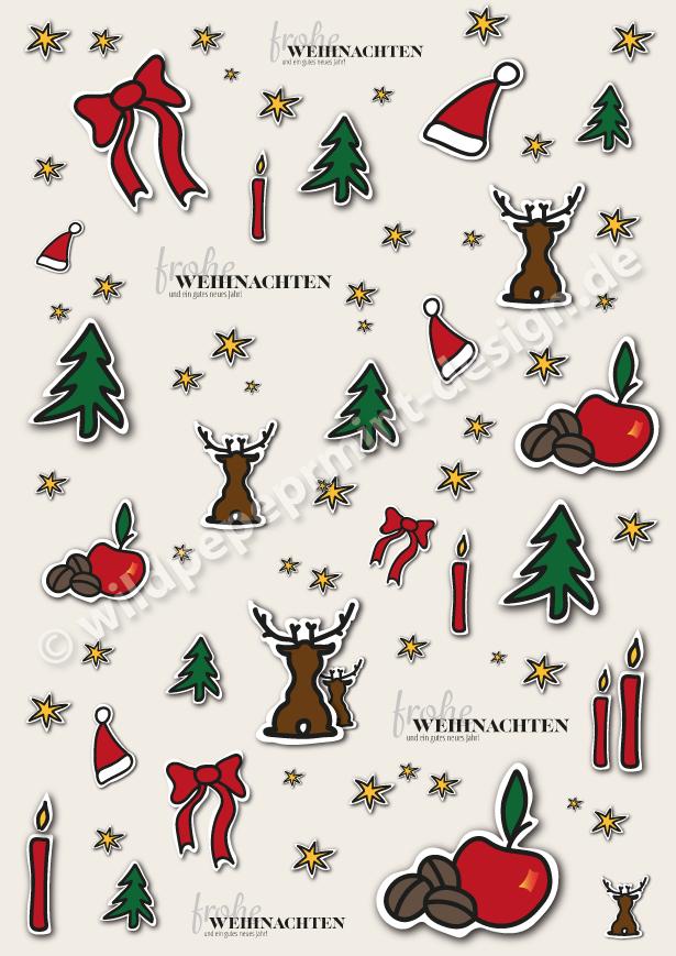 Weihnachtspapier-by-Heidrun-Lutz, wildpeppermint-design.de