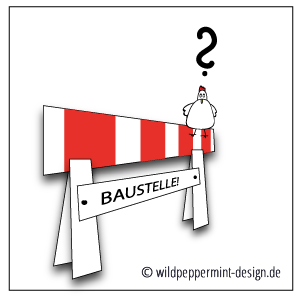 Illustration, Baustelle, Huhn, wildpepeprmint-design.de