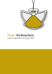 Weihnachtskarte-13, umweltfreundliche Weihnachtskarte, Engel, goldfarben, wildpeppermint-design.de