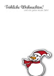 Weihnachtskarte-14, umweltfreundliche weihnachtskarte, schneemann, wildpeppermint-design.de