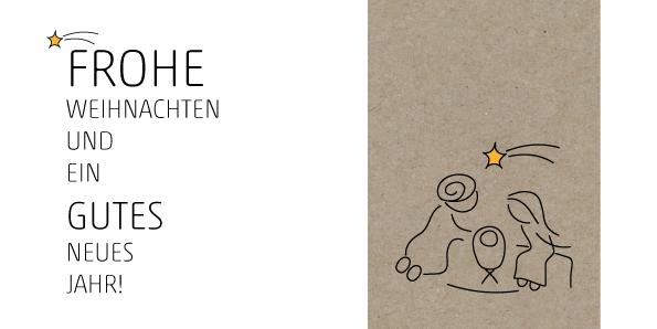 weihnachtskarte krippe umweltfreunldiche weihnachtskarte. Black Bedroom Furniture Sets. Home Design Ideas