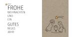 Weihnachtskarte, Natur, Krippe, umweltfreunldiche weihnachtskarte, wildpeppermint-design.de