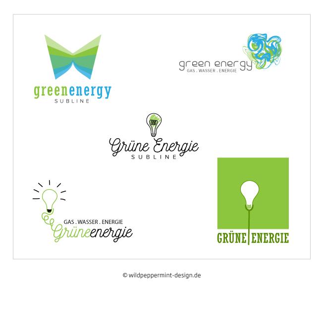 Logoentwürfe grüne energie, nachhaltige unternehmen logo, logos für öko, logo umwelt, grüne energie, gestaltung logos fair und frisch, frische ideen für logo, wildpeppermint-design.de