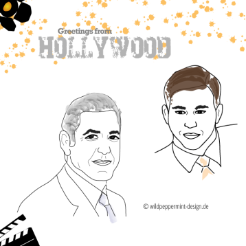 Illustration Hollywoodstars, Kirtzelbild Portrait, wildpeppermint-design.de