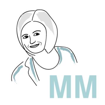 Referenz Michaela-Molinari Gravatar, Avatar für Blog, gezeichneter Avatar, Profilbild für Social Media, Illustration Portrait, Illustration Frauenkopf, wildpeppermint-design.de