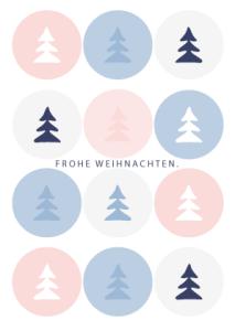 Umweltfreundliche Weihnachtskarten made by © wildpeppermint-design.de
