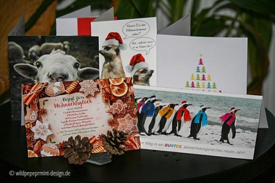 weihnachtskarten Kunden Geschäftspartner, wildpeppermint-design.de