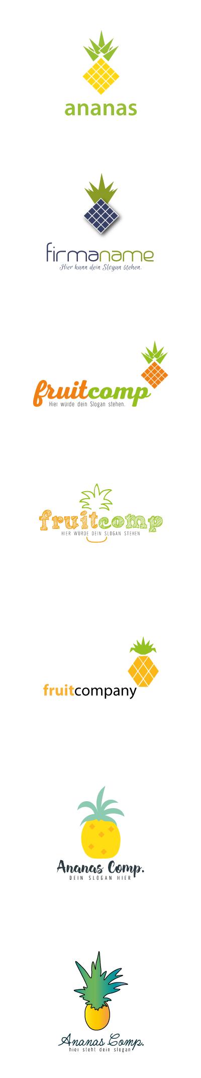 freie-logos-ananas, freie logos, früchte, ananas, logos fürs kleine budget, günstige freie logos, wildpeppermint-design.de