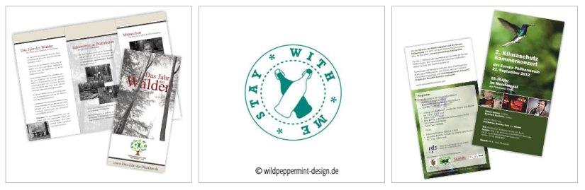 Pro Bono Projkete Flyer, Logo wildpeppermint-design