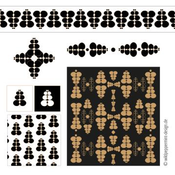 muster, grafische Muster, illustrationen muster, wildpeppermint-design.de
