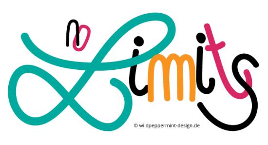 Handlettering no limits, handgezeichnete wörter, wildpeppermint-design.de