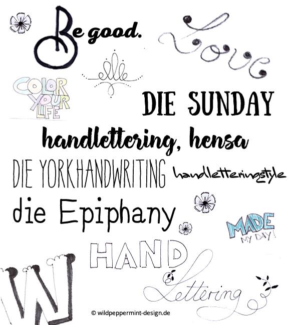 Handlettering Beispiele, handgezeichnete wörter, fonts handlettering, wildpeppermint-design.de