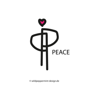 Neues Logo Peace von wildpeppermint-design.de, logo peace, logo entwurf peace ausstellung schirn 2017