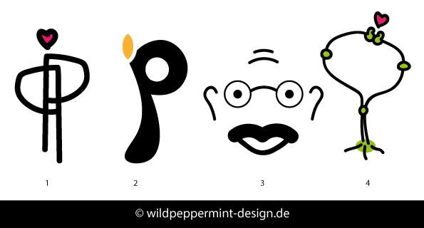 Peace-Logos-Wettbewerb-Schirn, Logo-Enwtürfe Peace, Friedens-Logo neue Ideen, by wildpeppermint-design.de