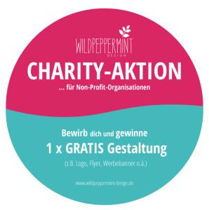 charitiy-Aktion wildpeppermint-Design, Gratis Gestaltung gewinnen, gemeinnützige Organisationen