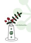weihnachtskarte Beeren in Vase, wildpeppermint-design
