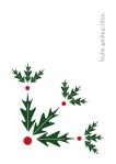 Weihnachtskarte Eichenblätter