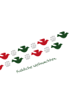 Weihnachtskarte Vögel