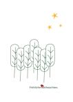 Weihnachtskarte Bäume Sterne