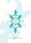 Weihnachtskarte Fantasie Schneeflocke