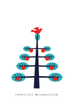 Weihnachtskarte Skandinavischer Baum