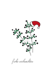 Weihnachtskarte Beerenzweige handgezeichnet