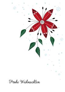 Weihnachtskarte Fantasie Weihnachtsstern