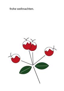 Weihnachtskarte Beeren mit Schnee